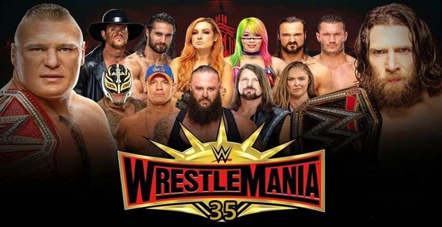 wrestlemania 35 card
