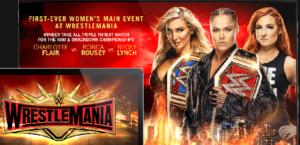 Ronda Rousey vs Charlotte Flair vs Becky Lynch live stream