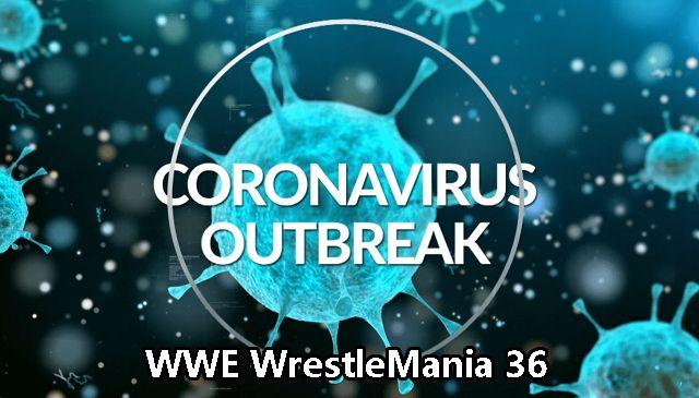 WrestleMania 36 coronavirus outbreak