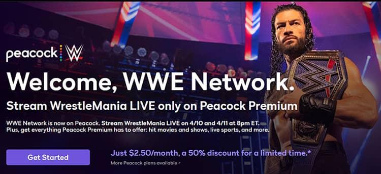 WWE WrestleMania 37 Live On Peacock Premium