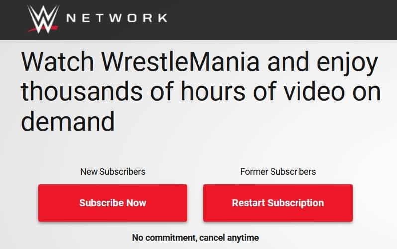 WWE WrestleMania Live on WWE Network